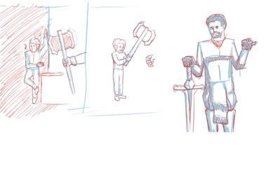 Stream sketches by SirCrackWaffle