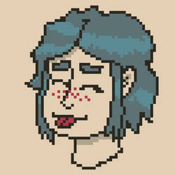 Also same girl, but pixel