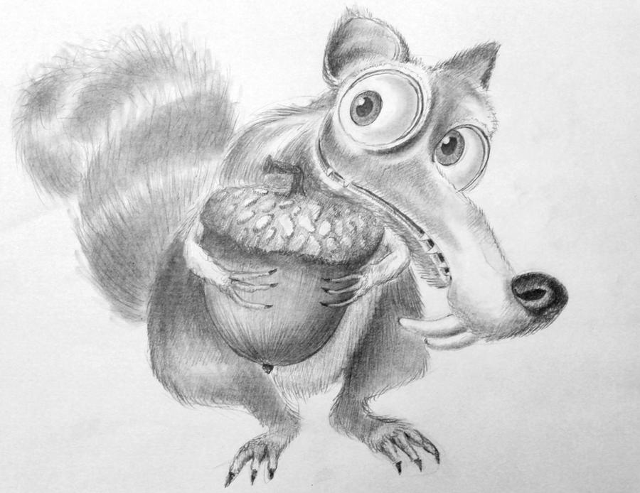 Ice Age Drawings Ice Age Squirrel Drawing