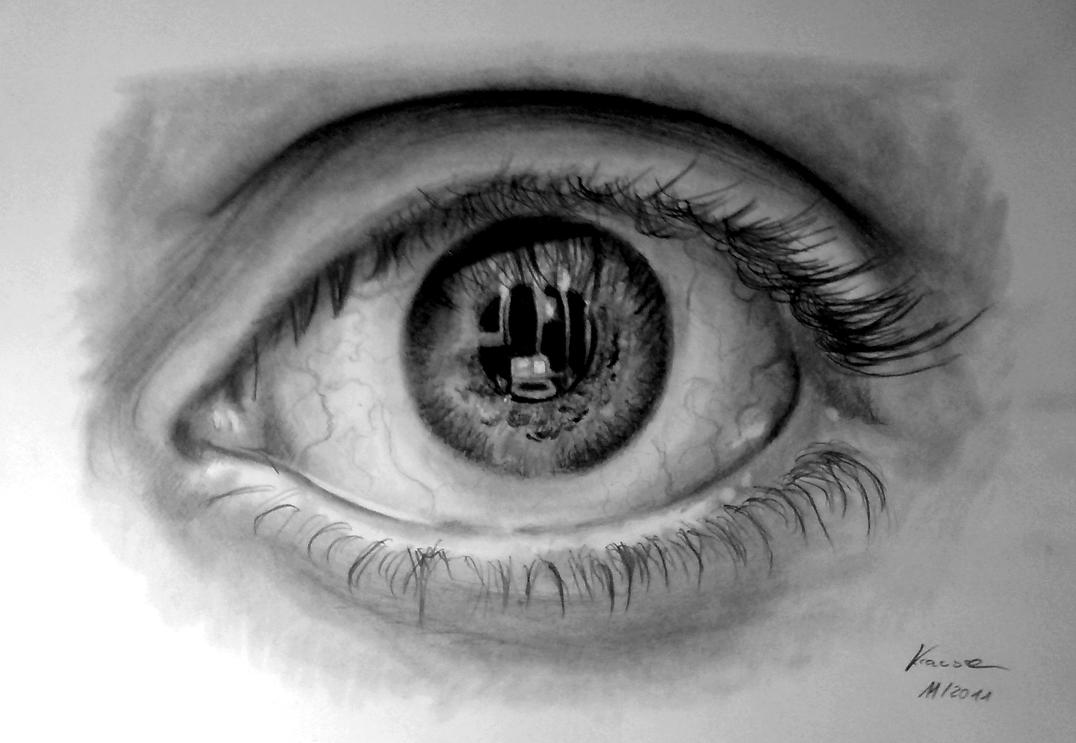 Detailed eye study by gregor1992 on deviantart for Cool detailed drawings