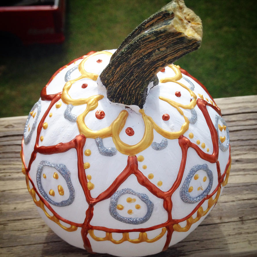 Decorated Halloween Pumpkin by nikkidutchy