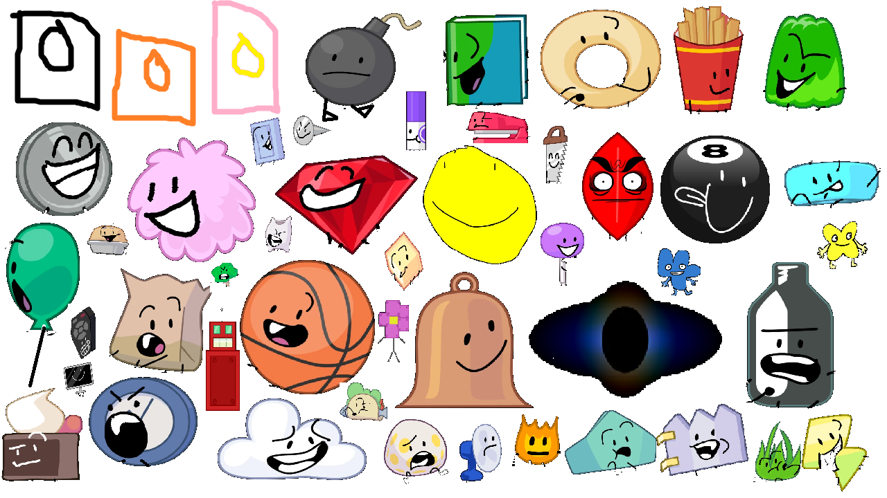 All Bfdi Characters: BFDI Characters Part 1 By DigitAmberGold On
