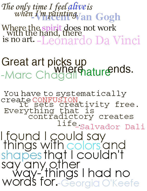Famous Art Quotes. QuotesGram