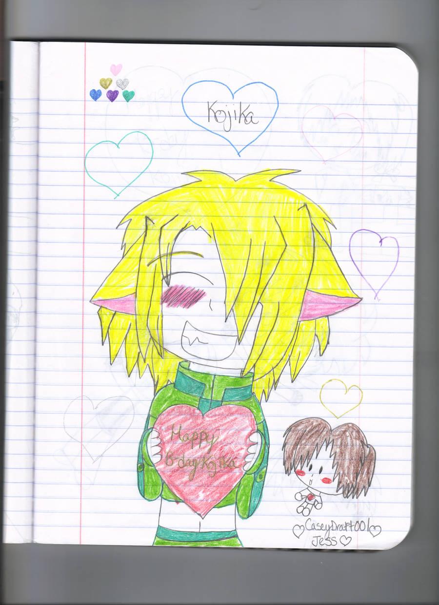 Happy belated birthday Kojika by Caseydraft001