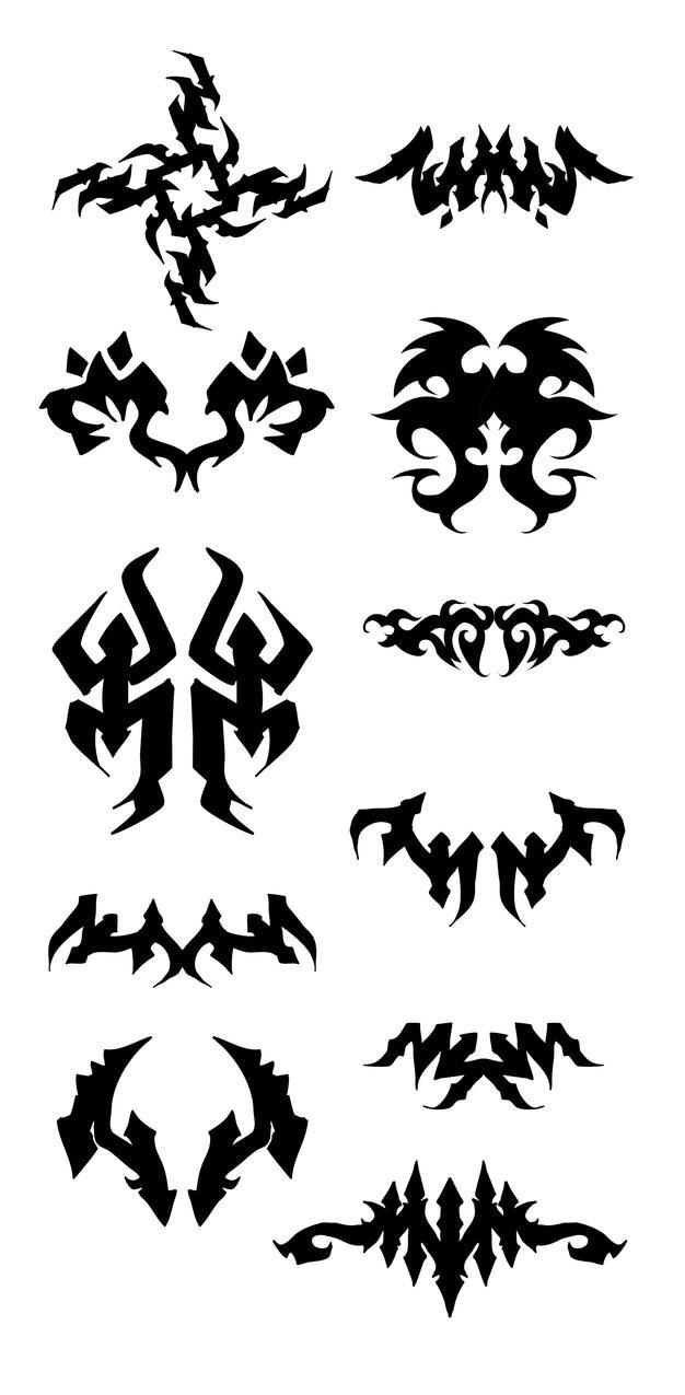 symmetrical tribal by noistromo on deviantart. Black Bedroom Furniture Sets. Home Design Ideas