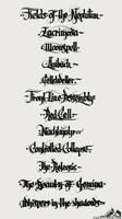 Calligraffiti - Band Names 001 by noistromo