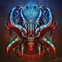 Biomechanical Chrome Skull