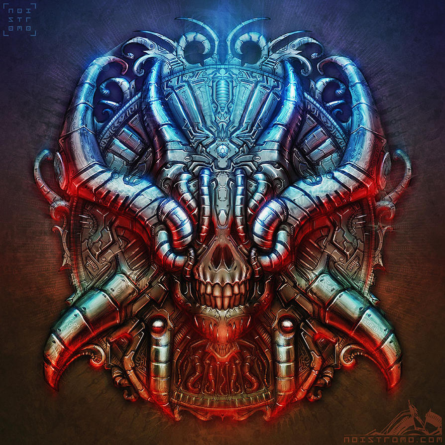 Biomechanical Chrome Skull by noistromo on DeviantArt