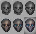 Alien - head, process