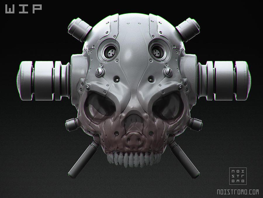 Cyber Skull - 3D remake - WIP by noistromo