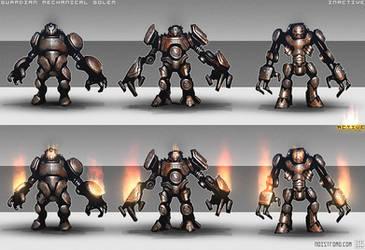 Guardian Mechanical Golem by noistromo