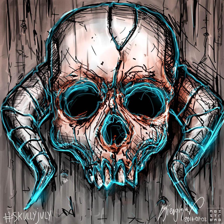 Skullyjuly-002 by noistromo