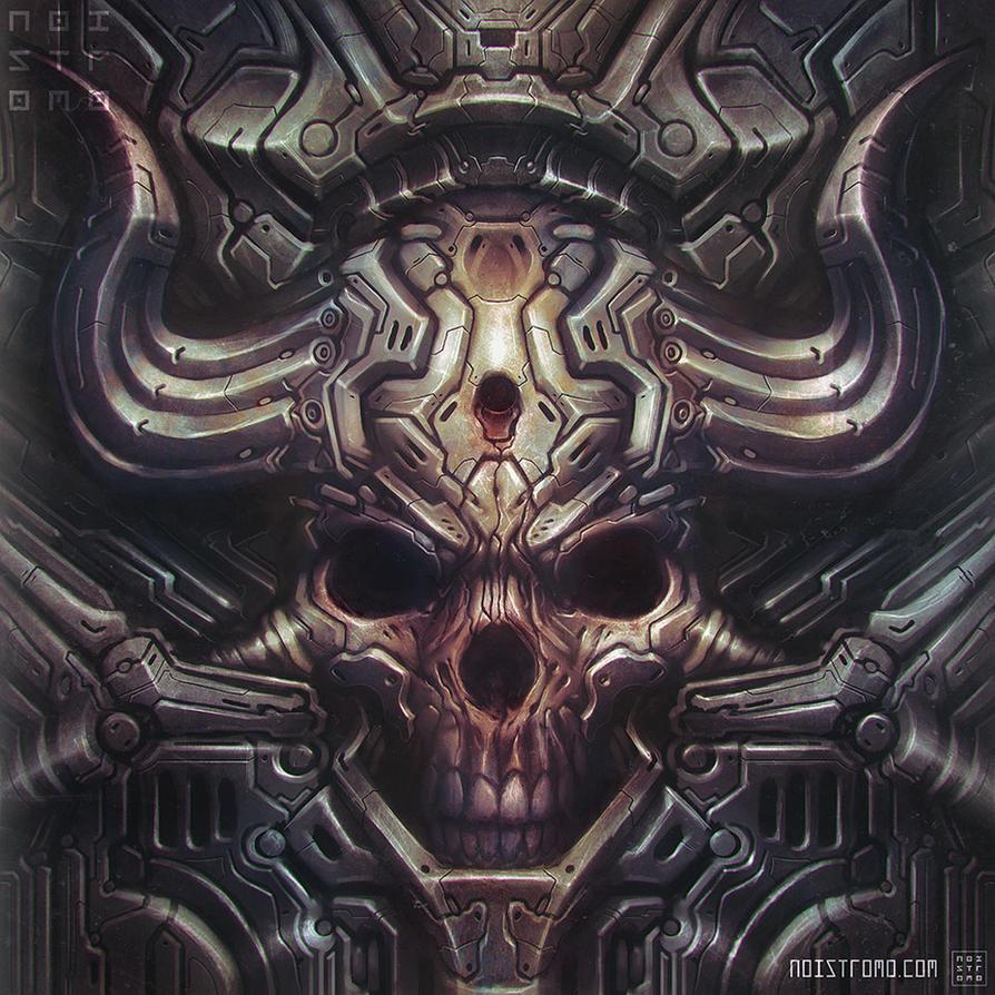 Biomech-hellskull by noistromo
