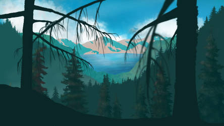 wooded Mountains4 by TehCarbonMonkey
