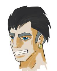 Male smirk by TehCarbonMonkey