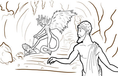 Fables LineArt Orpheus and Eurydice by TehCarbonMonkey
