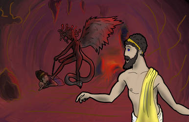 Fables color Orpheus and Eurydice entrance Hades by TehCarbonMonkey
