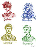 the four houses sketch