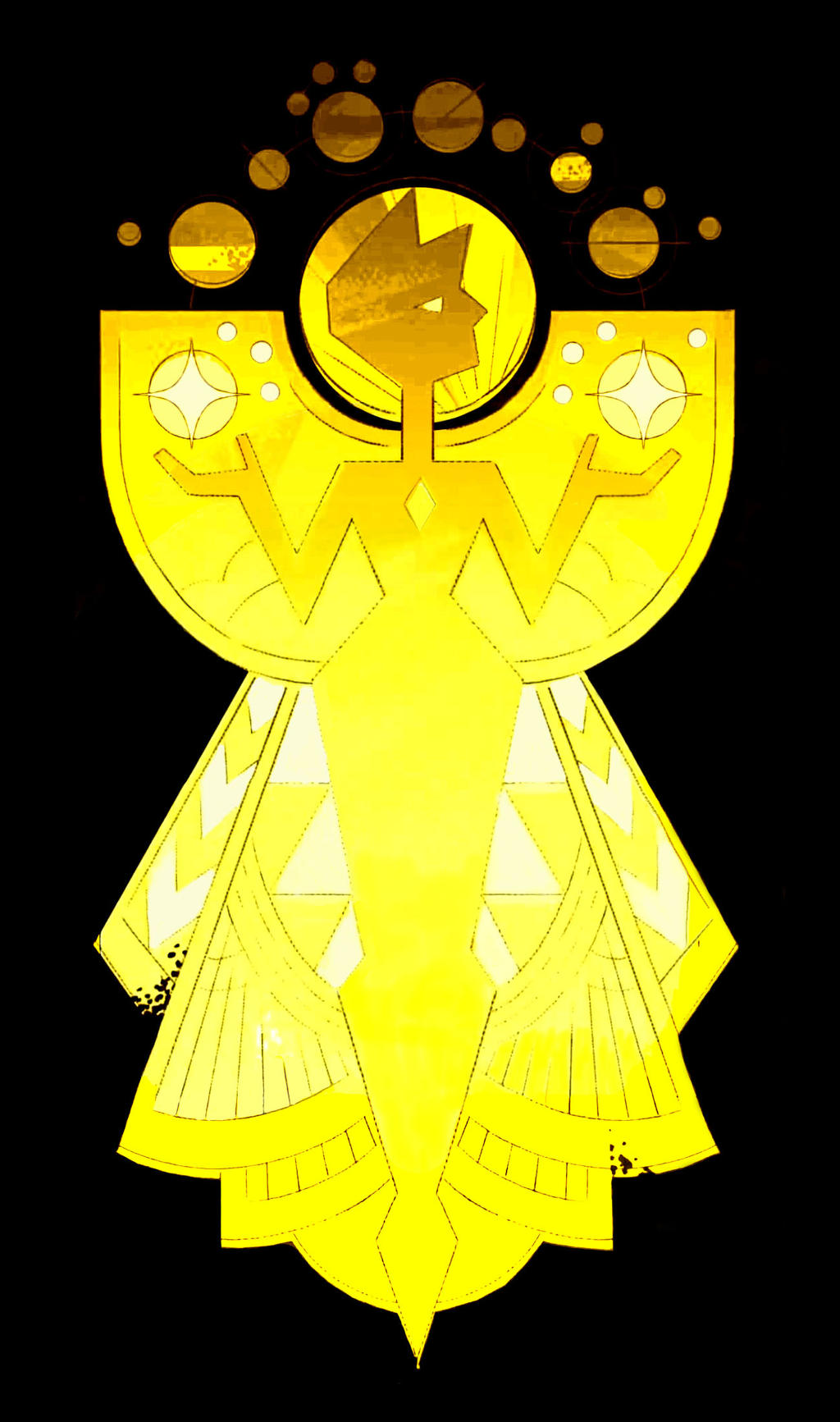 yellow diamond mural by tanglesnweaves on deviantart