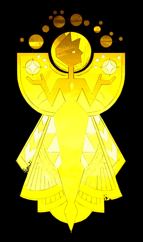 Yellow Diamond Mural by tanglesnweaves on DeviantArt