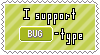 Bug-Type Support Stamp by Natsu714