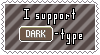 Dark-Type Support Stamp by Natsu714