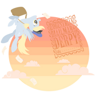 Equestrian Mailmare 'Derpy' by Natsu714