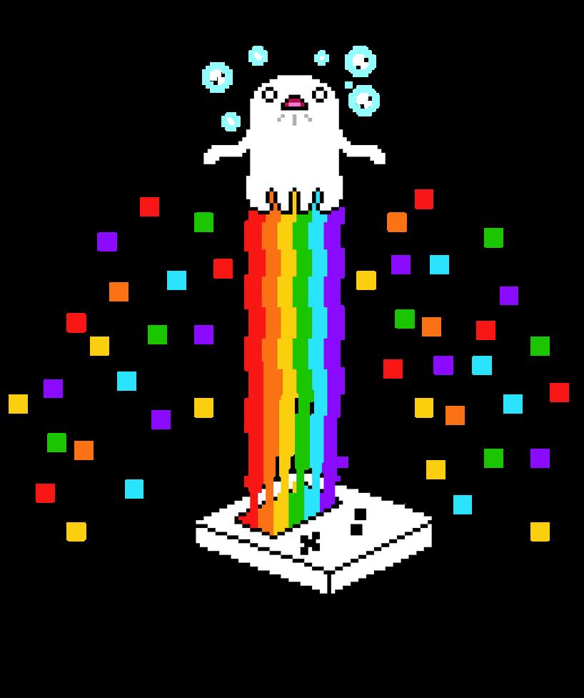Ghost Rainbow T-shirt Design by Natsu714