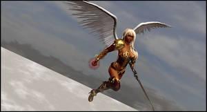 Flying Warrior Woman by almeidap