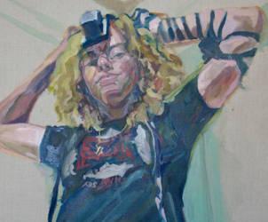 Self Portrait in Tefillin, det by fruscianteisgod