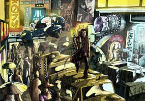 Blade Runner - Deckard runs by Ovi-One