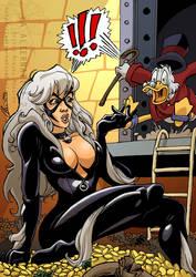 Scrooge McDuck VS Black Cat