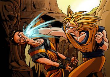 Goku VS Goku by Ovi-One