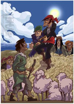 The assaulted shepherd