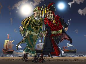 Moors and Christians Kings. Spanish Festival.