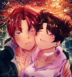Photo (or selfie??) with Luciano (with mun) by anjel-chan