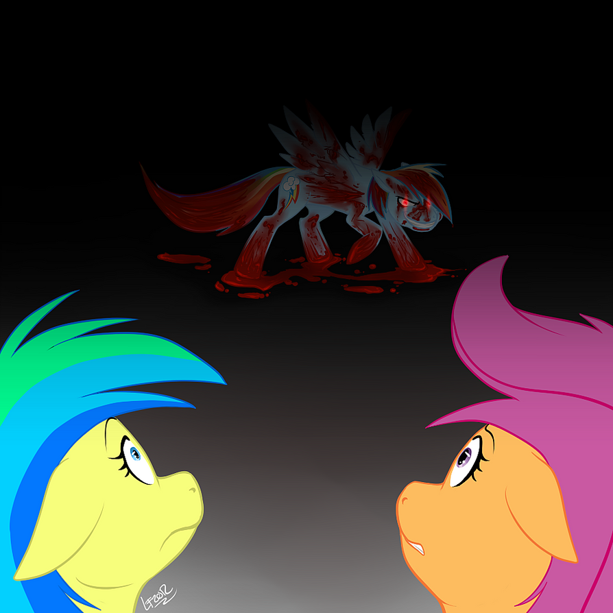 Mlp fim gore rainbow factory fanart by hexebus draemoore on