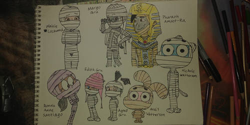 Margo, Edith and Agnes Mummy Situations 2 by PeteDRaptor
