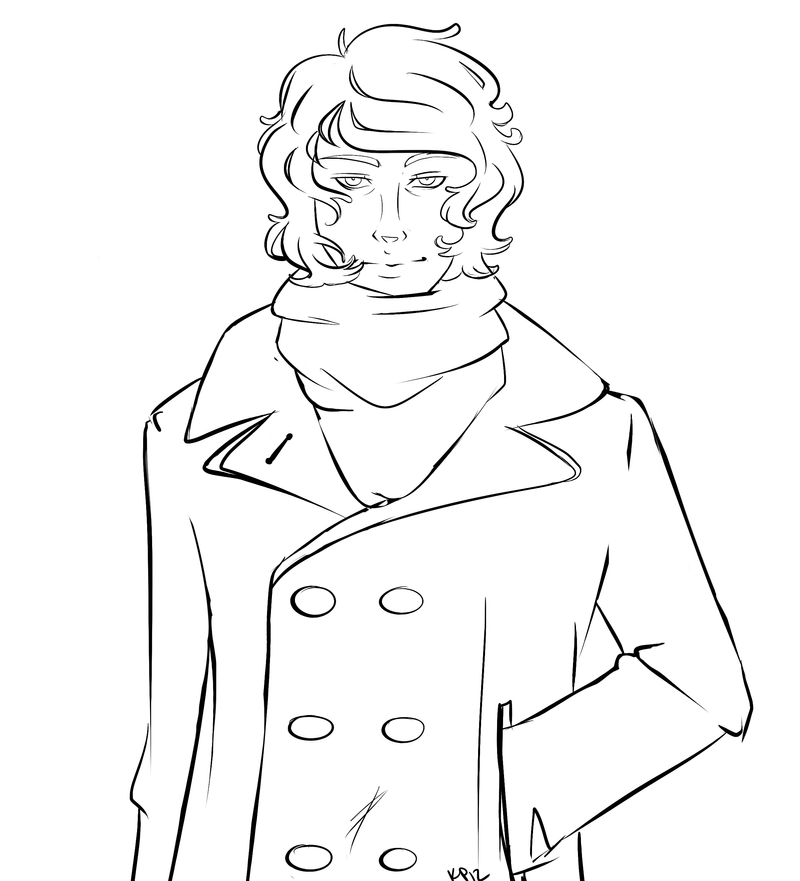 little peacoat Thomas LINEART by ThePimpBoss