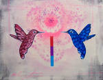Mirrored Hummingbirds