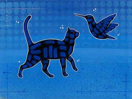 Cat And Bird by TetraModal