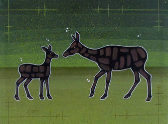Doe And Fawn by TetraModal