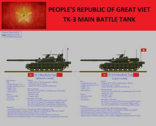 PRGV TK-3 Main Battle Tank by nhinhonhinho