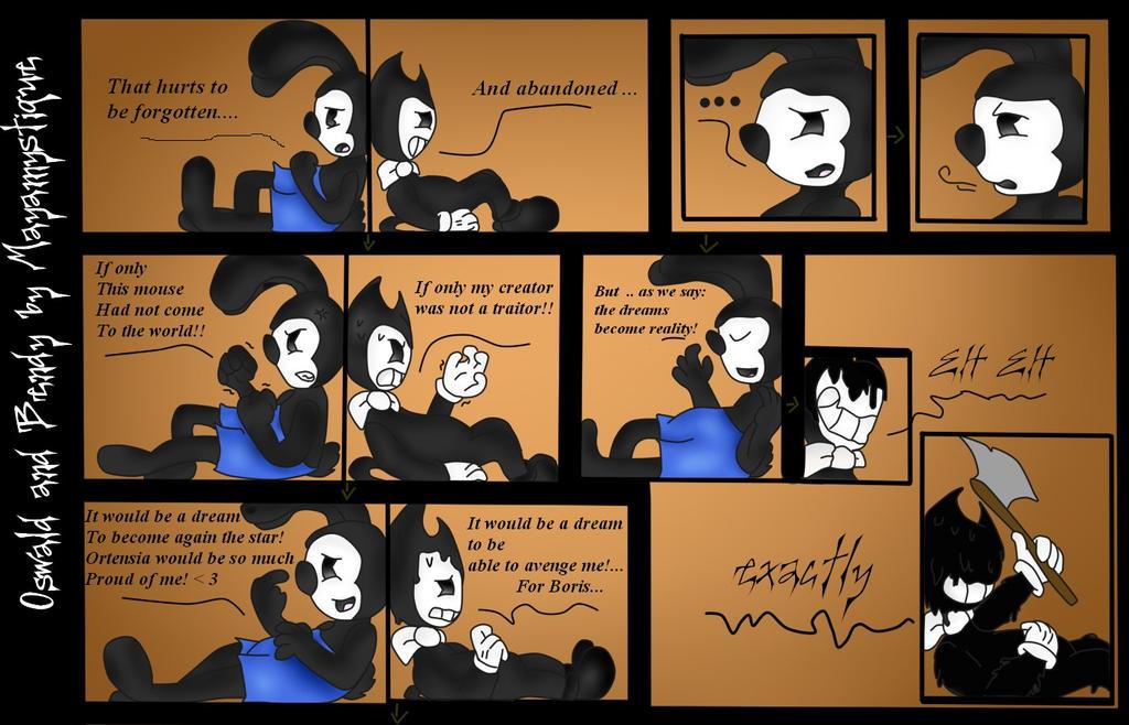 Spongebob Meet Bendy Deviantart: Comic OT (part 1: Oswald Meet Bendy) By Mayamystique On