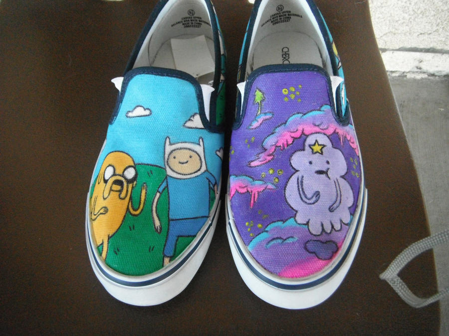 Adventure time shoes vans