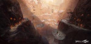 Drubi Desert's Amir Fighting Pit by olly-lawson