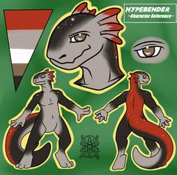 Ref sheet of Hypebender, The Hellbender 2.0 by hypebender