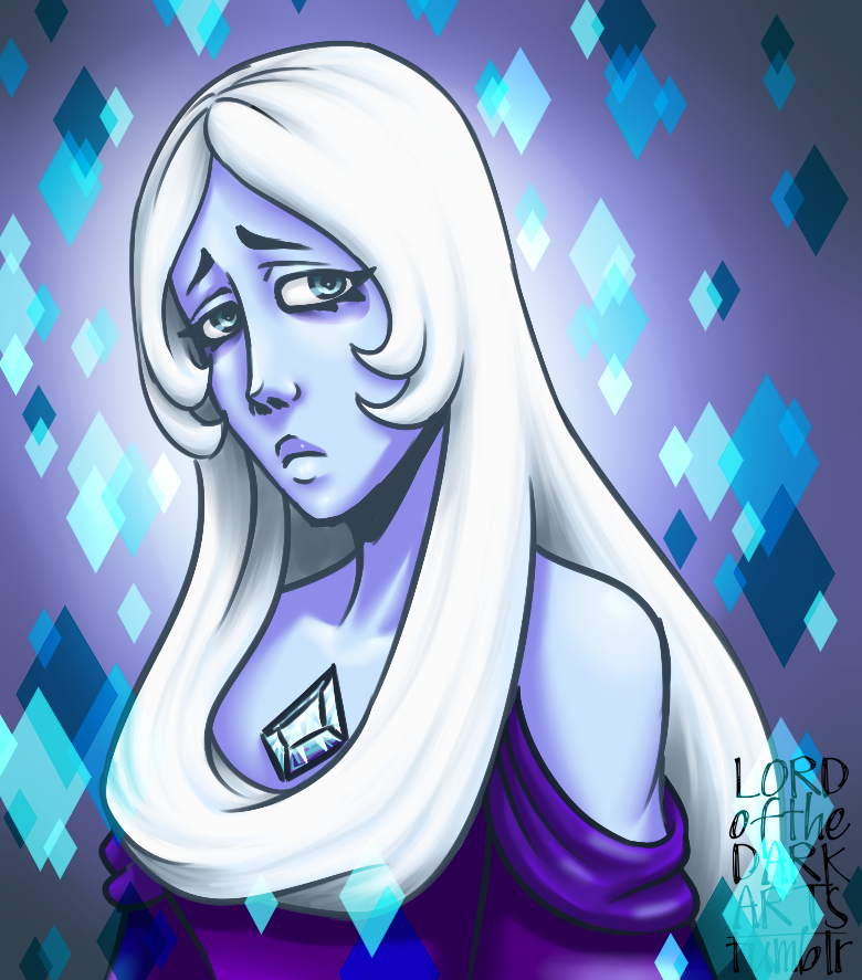 This is a piece from last year, or was it earlier this year I drew it... from my old account that I still like a lot. Steven Universe's Blue Diamond in this one style, and I have another style vers...