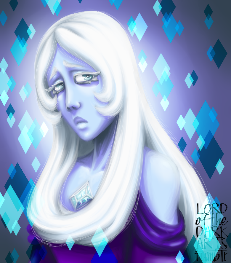 This is a piece from last year, or was it earlier this year I drew it... from my old account that I still like a lot. Steven Universe's Blue Diamond, this time in an experimental painterly style I'...