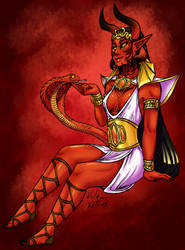 Faustia's Demon Markings by ValkyrieVale